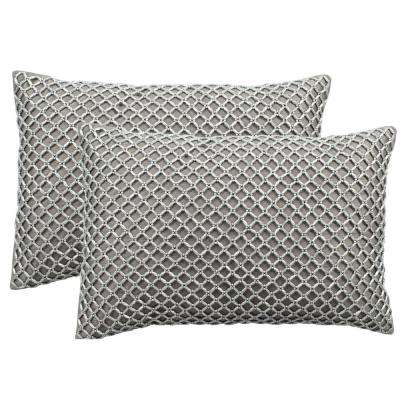 Temy Embellished Hand-Beaded Pillow (2-Pack)