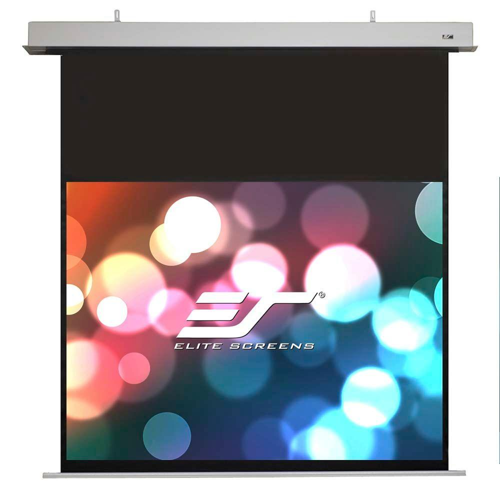 106 in. Electric In-Ceiling Projection Screen with 18 in. Drop