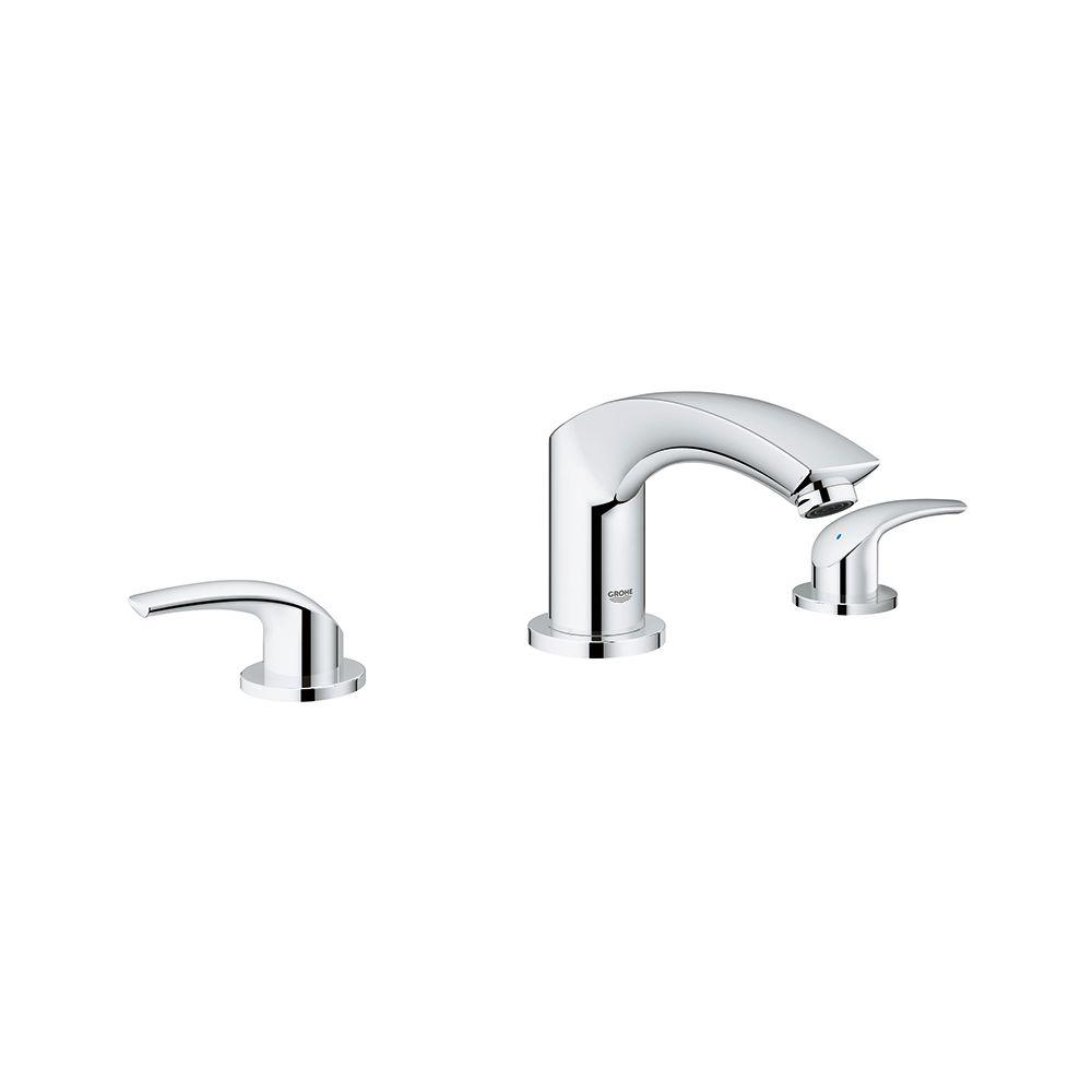 GROHE Eurosmart New 8 In. Widespread 2 Handle Bathroom Faucet In StarLight  Chrome