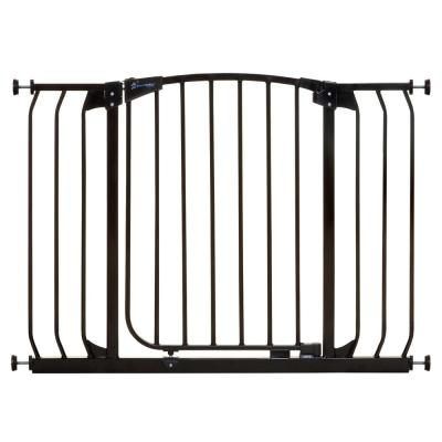 Chelsea 29.5 in. H Standard Height and Extra Wide Auto-Close Security Gate in Black