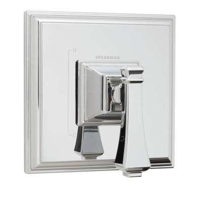 Rainier 1-Handle Shower Valve Trim Kit in Polished Chrome (Valve Not Included)
