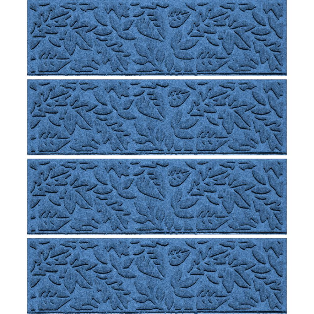 Medium Blue 8.5 in. x 30 in. Fall Day Stair Tread