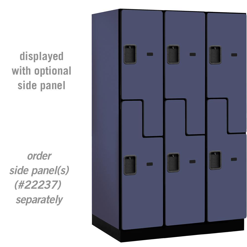 Salsbury industries 27000 series double tier s style 24 in for Designer lockers