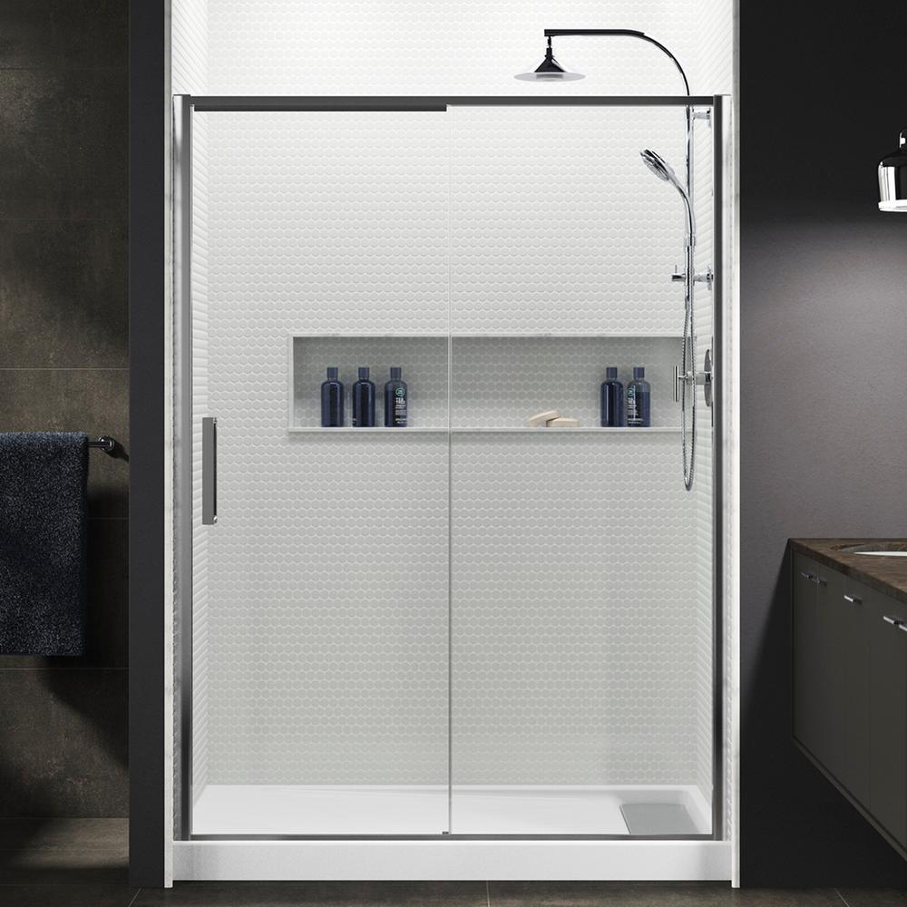 KOHLER Torsion 60 in. W x 76.875 in. H Frameless Sliding Shower Door ...