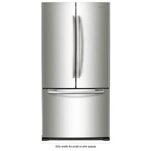 Click here to buy Samsung 33 inch W 19.4 cu. ft. French Door Refrigerator in Stainless Steel by Samsung.