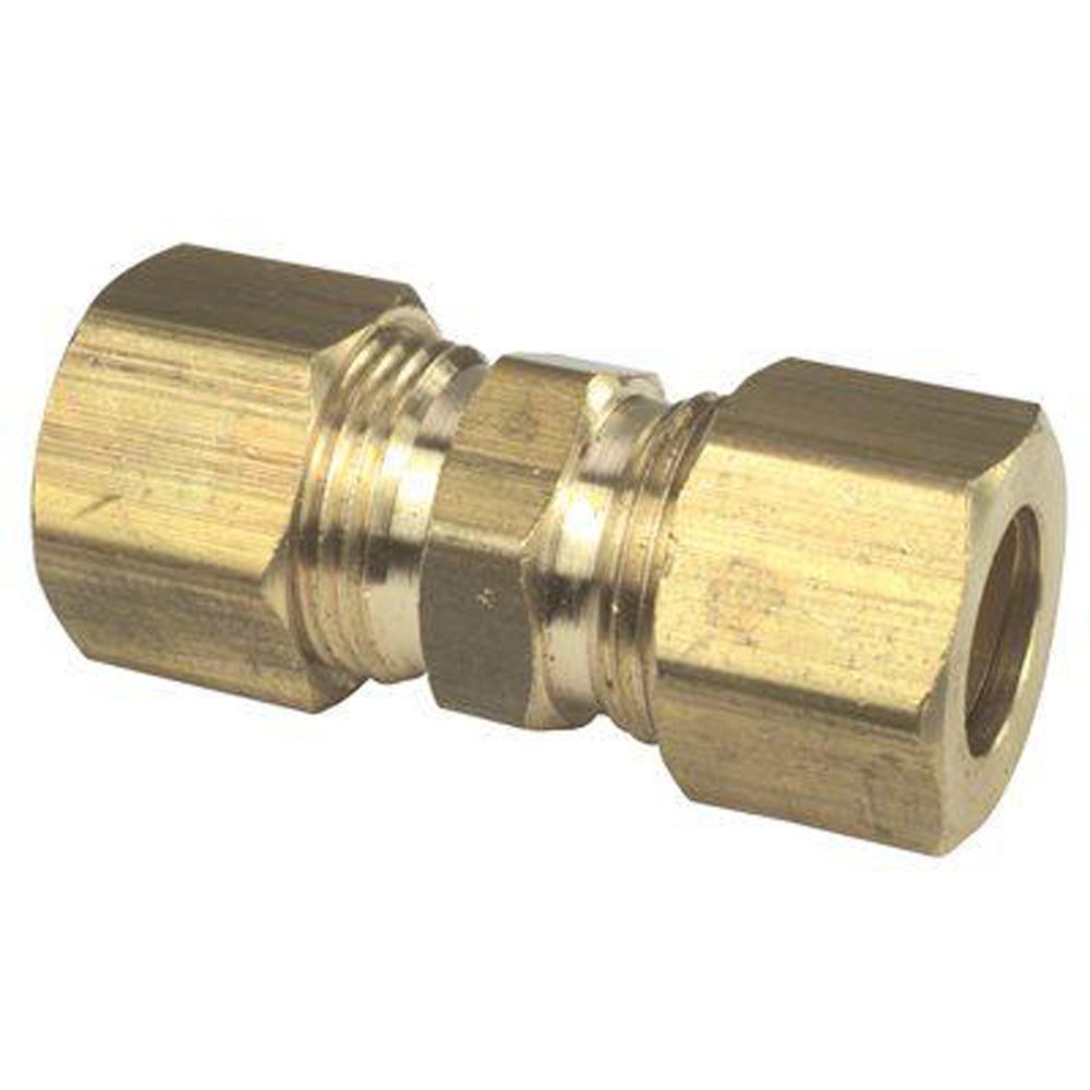 BrassCraft 1/2 in  O D  Compression No-lead Brass Compression Union