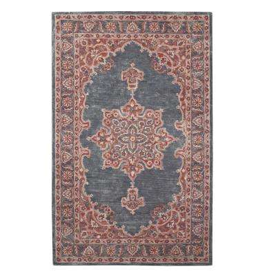 Euclid Charcoal/Pink 4 ft. x 6 ft. Area Rug