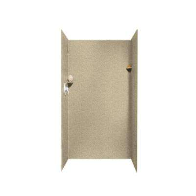 36 in. x 36 in. x 72 in. 3-Piece Easy Up Adhesive Alcove Surround in Prairie