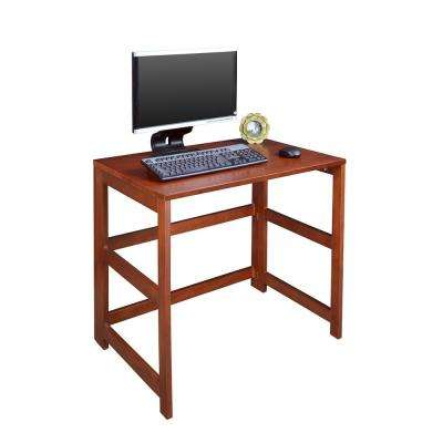 Flip Flop Cherry Folding Desk with Easy Assembly