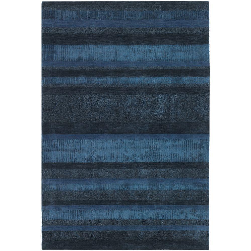 Chandra Amigo Blue Charcoal 5 Ft X 8 Indoor Area Rug