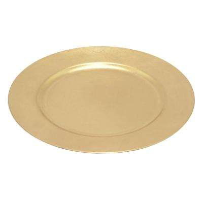 13 in. x 0.75 in. Gold Charger Plate