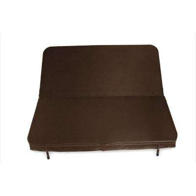 90 in. x 90 in. x 4 in. Sunbrella Spa Cover in Canvas Bay