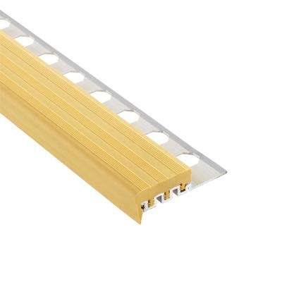 Novopeldano 1 PVC Beige 3/8 in. x 98-1/2 in. Aluminum-PVC Tile Edging Trim