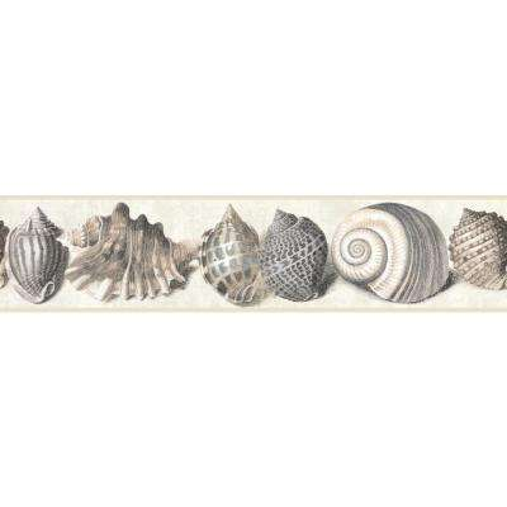 Nautical Living Shell Wallpaper Border