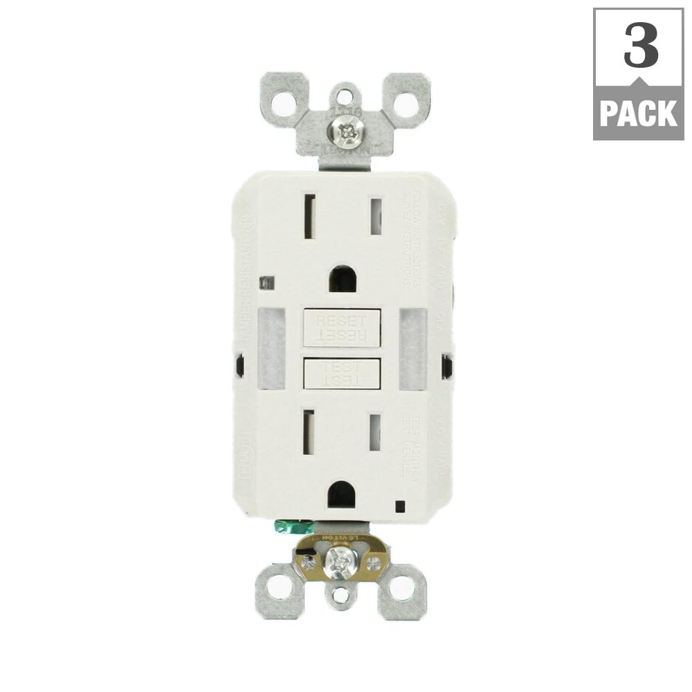 Gfci Electrical Outlets Receptacles Wiring Devices Light Diagram For 220v 3 Prong Plugs 15 Amp Self Test Smartlockpro Combo Duplex Guide And Tamper Resistant