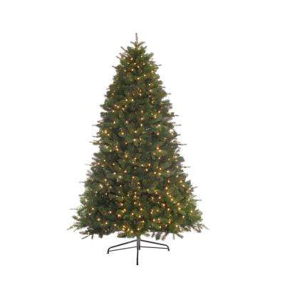 7.5 ft. Pre-Lit Incandescent Miracle Shape Bradford Artificial Christmas Tree with 800 Clear UL Lights