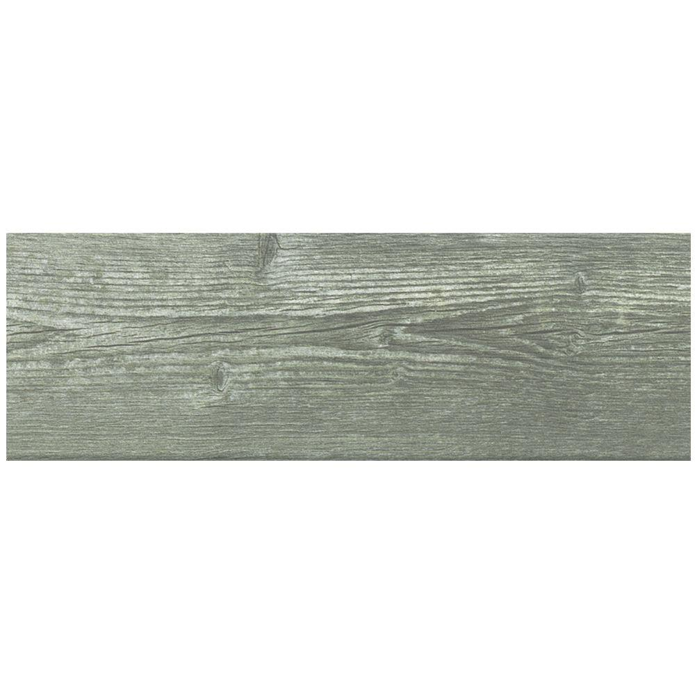 Canna Rustic Grey 4-1/4 in. x 12-3/4 in. Ceramic Wall Tile
