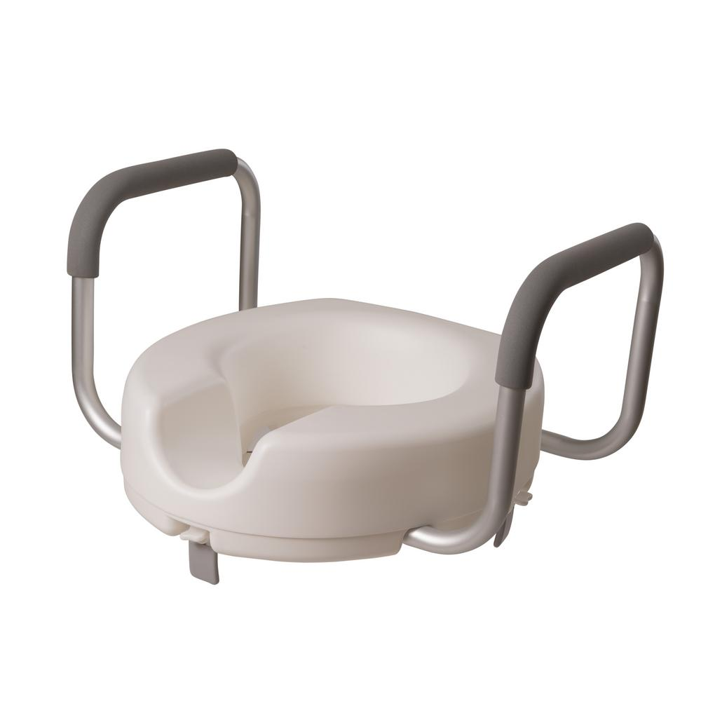 Pleasing Dmi Raised Toilet Seat With Arms Alphanode Cool Chair Designs And Ideas Alphanodeonline