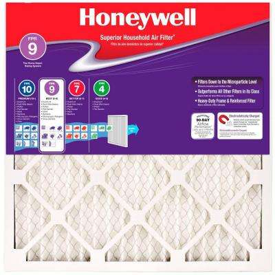 18 in. x 24 in. x 1 in. Superior Allergen Pleated FPR 9 Air Filter (Case of 12)