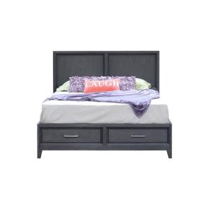 Chelsea Gray Wash Queen Storage Bed 7037GW - The Home Depot