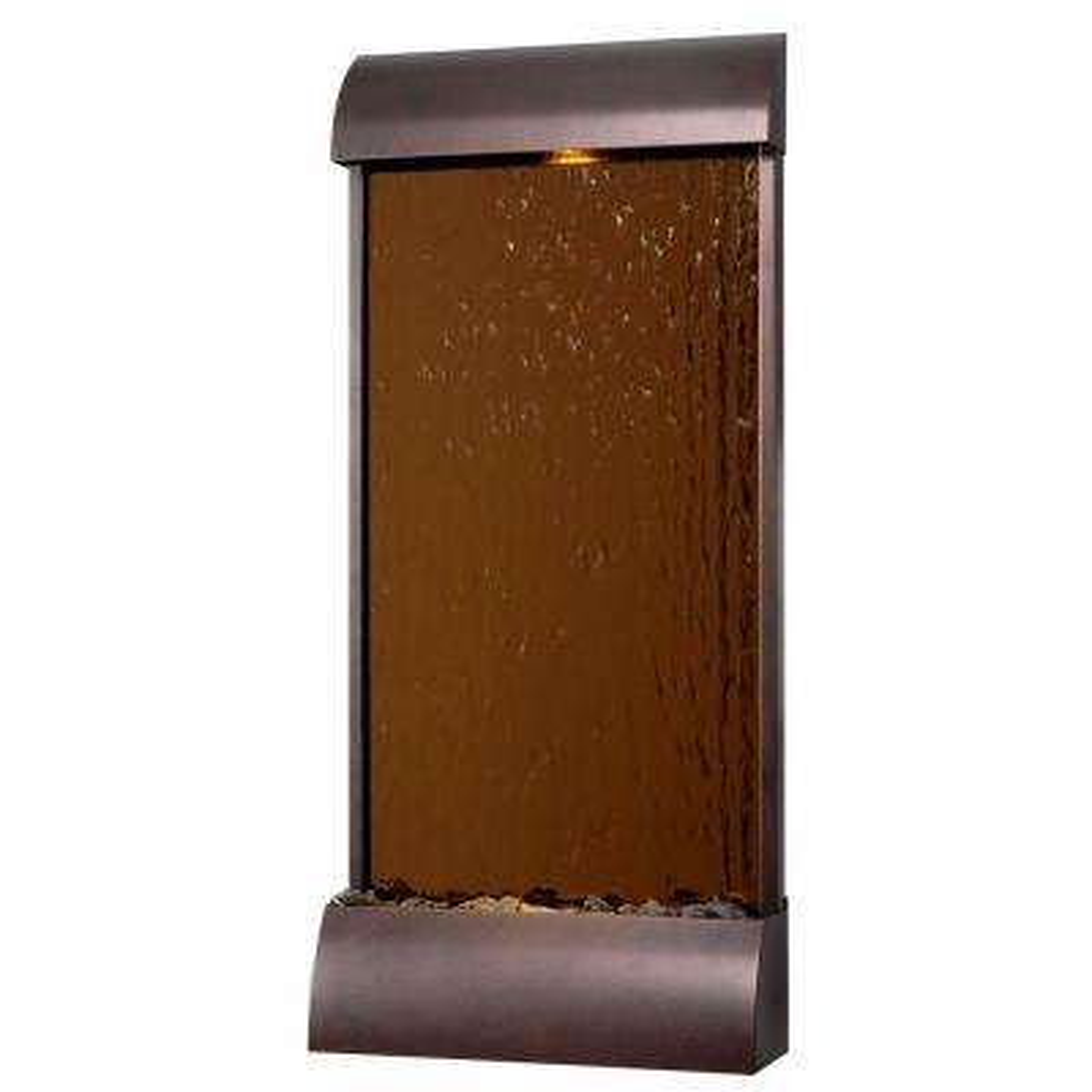 Aspen 42 in. Bronze/Copper Mirrored Face Floor/Wall Fountain