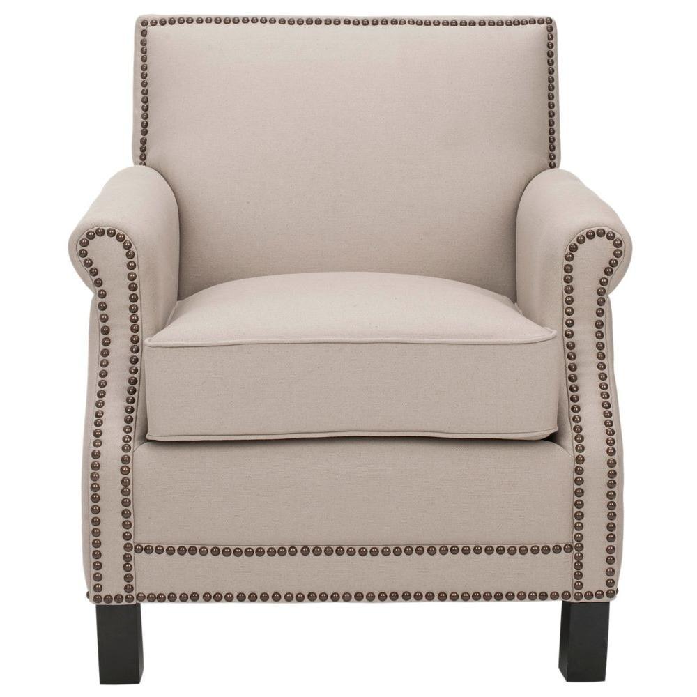 Safavieh Easton Taupe/Java Linen Club Arm Chair