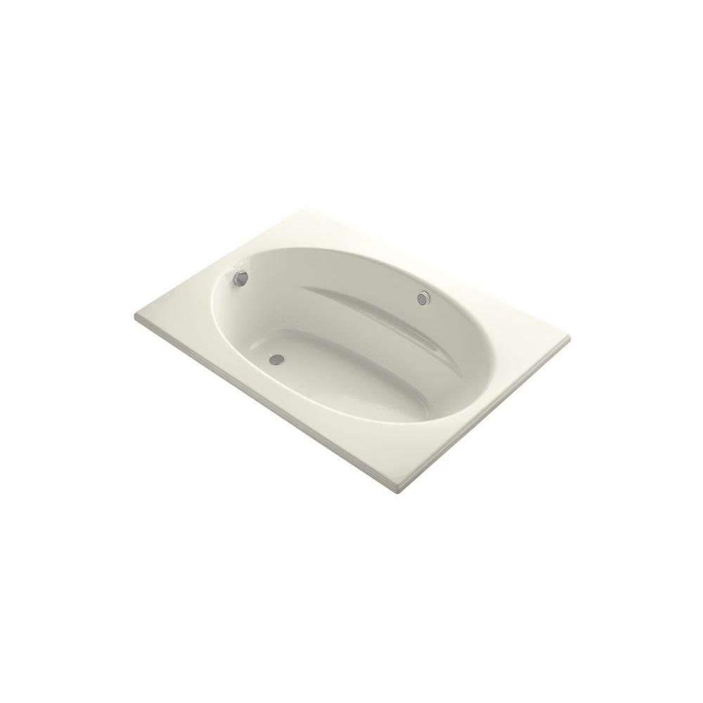 KOHLER Windward 5 ft. Rectangular Drop-in Air Bath Tub in Biscuit