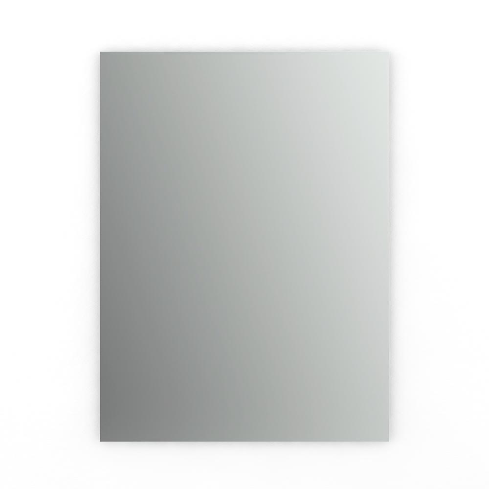 Delta 24 in. x 31 in. (M1) Rectangular Frameless Standard Glass Mirror with Easy-Cleat Float Mount Hardware