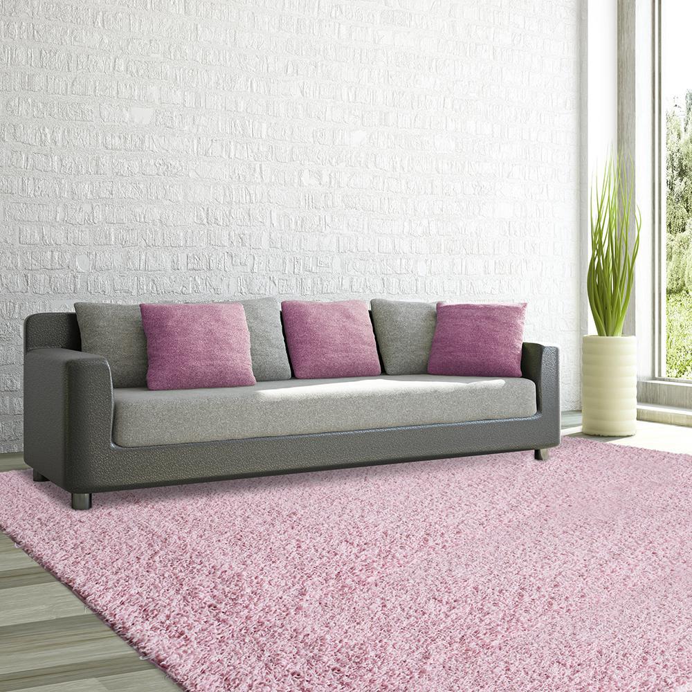 Comfort Shag Soft Pink 8 Ft X 10 Area Rug