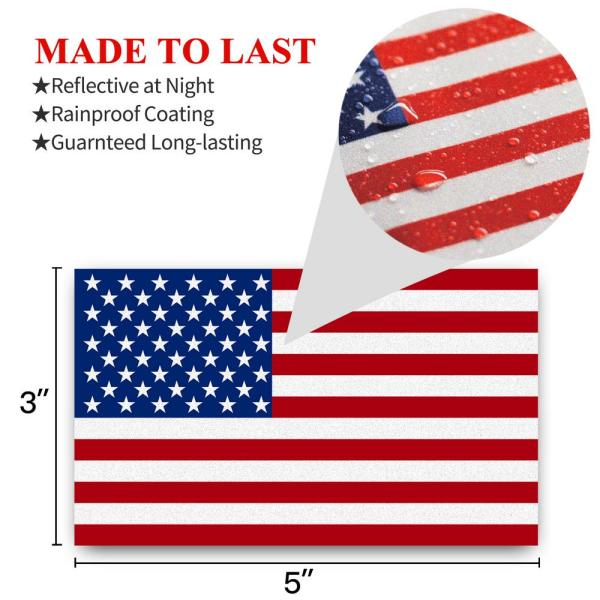 """NEW American Flag Decal  3/"""" × 5/"""" Window Sticker Lot of 100 Decals Made in U.S.A"""