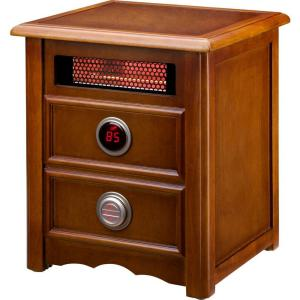 Dr Infrared Heater Nightstand 1500-Watt Infrared Portable Space Heater with Dual Heating... by Dr Infrared Heater