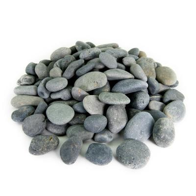 21.6 cu. ft., 3 in. to 5 in. 2000 lbs. Black Mexican Beach Pebble Smooth Round Rock for Garden and Landscape Design