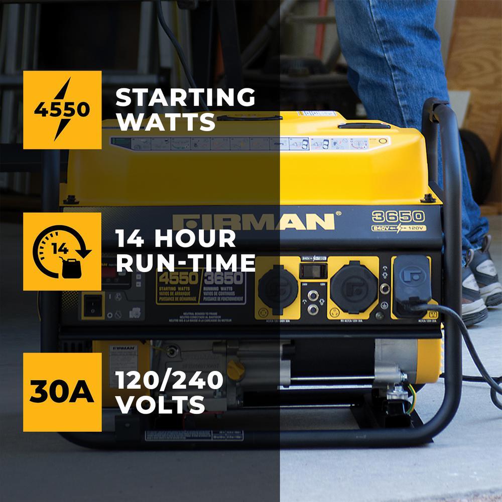 4550/3650-Watt 120/240V Recoil Start Gas Portable Generator