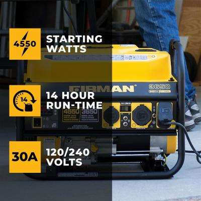 4550/3650-Watt 120/240V Recoil Start Gas Portable Generator