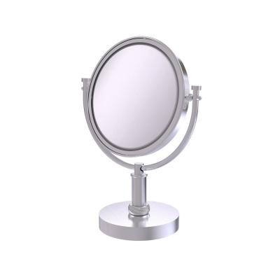 8 in. Vanity Top Makeup Mirror 4X Magnification in Satin Chrome