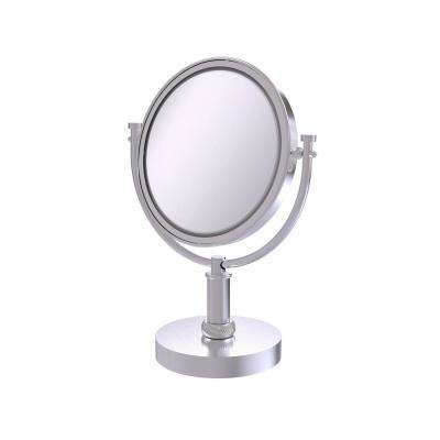 8 in. Vanity Top Make-Up Mirror 4X Magnification in Satin Chrome
