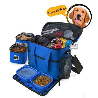 Week Away Travel Bag for Dog Accessory (M/L Dogs) in Royal