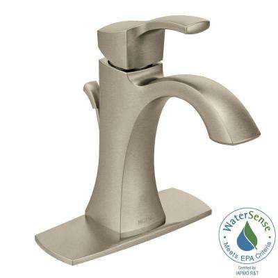 Voss Single Hole 1-Handle High-Arc Bathroom Faucet in Brushed Nickel