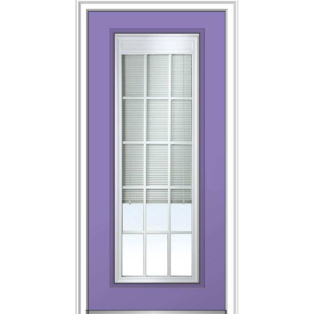 Terrific Mmi Door 36 In X 80 In Internal Blinds And Grilles Left Hand Inswing Full Lite Clear Low E Door Handles Collection Olytizonderlifede