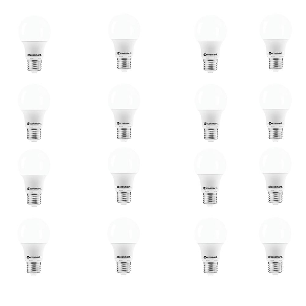 40-Watt Equivalent A19 Non-Dimmable LED Light Bulb Daylight (16-Pack)