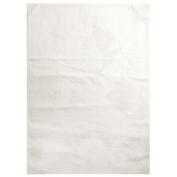 Bazaar Piper Snow 8 ft. x 10 ft. Solid Polyester Area Rug
