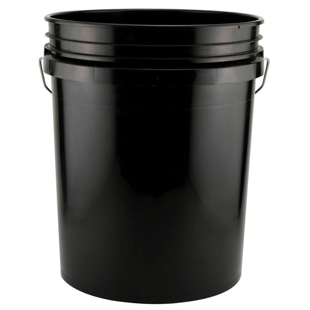5 gal black bucket 05glblk the home depot