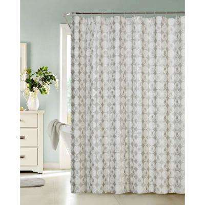 Twilight 70 in. Silver Shower Curtain