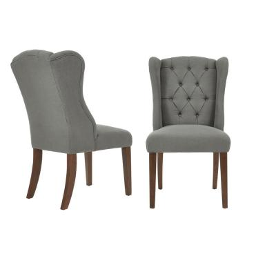 Belcrest Sable Brown Wood Upholstered Dining Chair with Charleston Teal Seat (Set of 2) (24.02 in. W x 40.94 in. H)