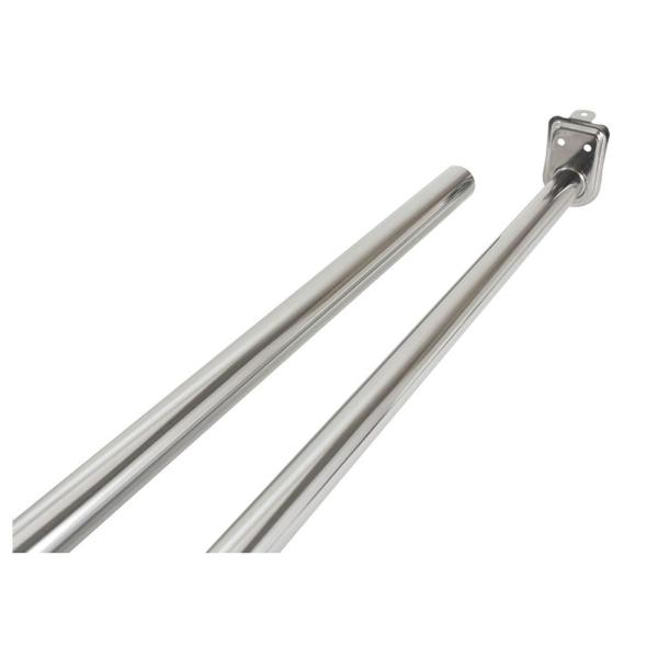 30 in. - 48 in. Polished Chrome Adjustable Closet Rod