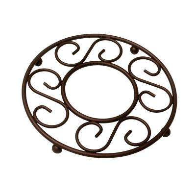 7.75 in. x 7.75 in. x 0.75 in. Bronze Steel Trivet