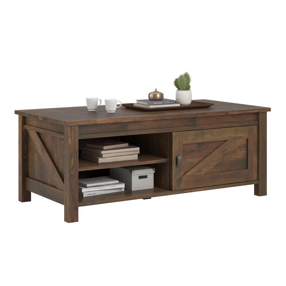 Brownwood Barn Pine Storage Coffee Table