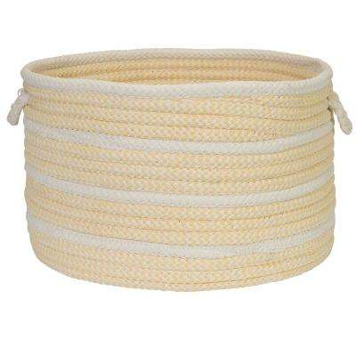 18 in. x 18 in. x 12 in. Pale Banana Petunia Basket