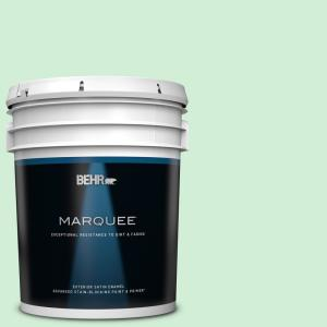 Behr Marquee 5 Gal P380 7 Luck Of The Irish Satin Enamel Exterior Paint And Primer In One 945305 The Home Depot