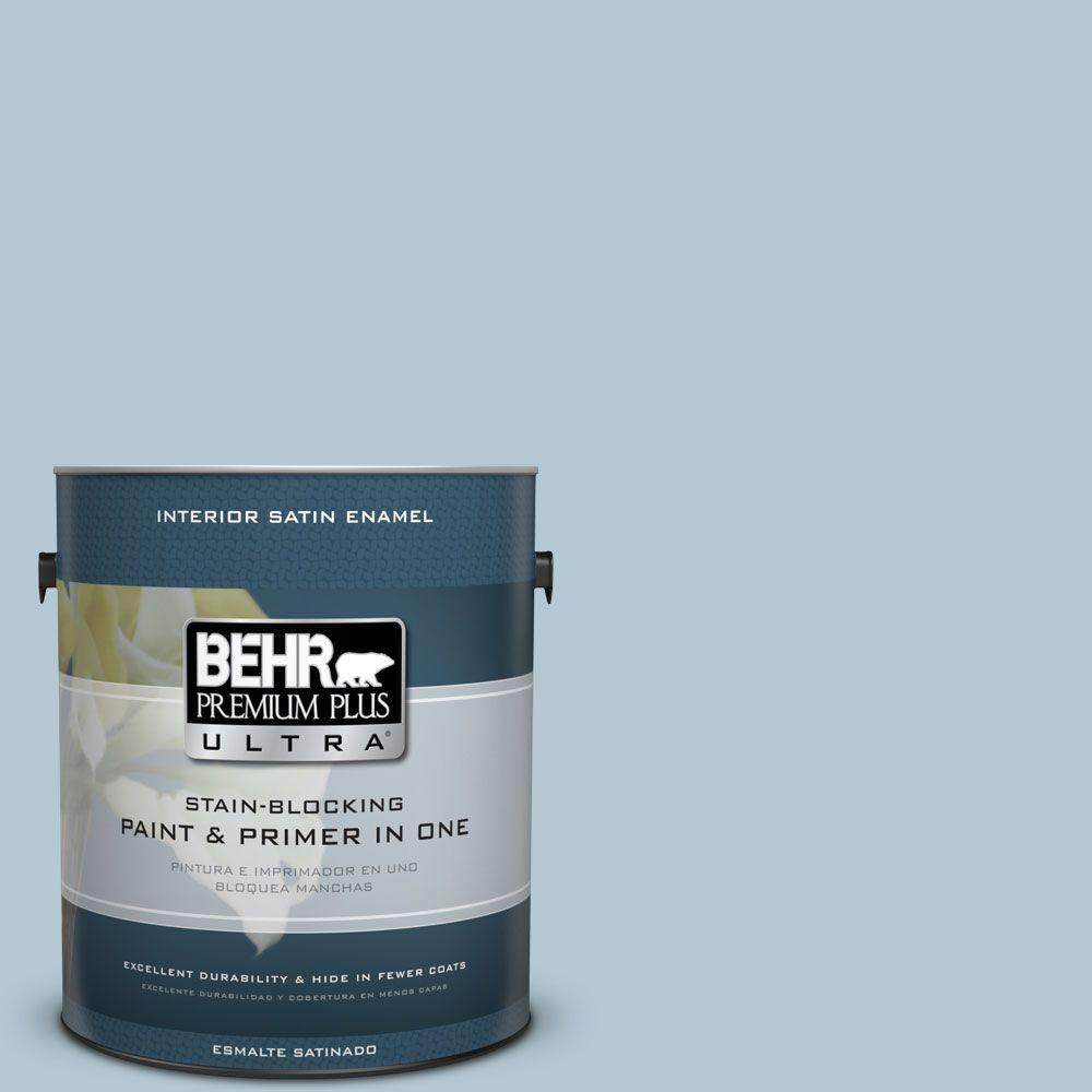 1 gal. #HDC-CT-16A English Hollyhock Satin Enamel Interior Paint